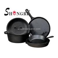 Pre-Seasoned cast iron cookware