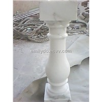Carrara White Marble Stone Balustrade