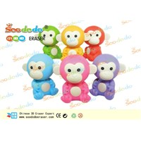 soododo 3d cute monkey shaped rubber erasers
