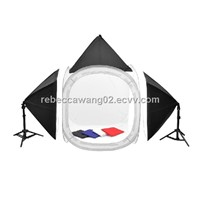 studio lighting kit with photo tent and soft box