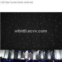 LED Star curtain White LED 3x2m