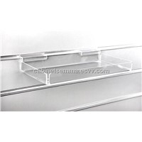 Plastic Tray for Slatwall / Transparent Acrylic Slatwall Display Tray