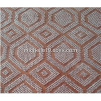 100%PE non woven/made by machine red floor mats/carpet ,anti slip,waterproof