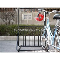 2014 black  powder coated indoor floor 6 bike rack(ISO approved)