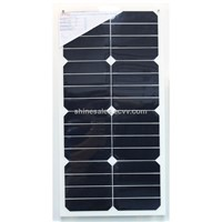 25w semi-flexible solar panel with sunpower cells
