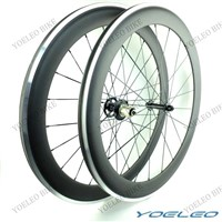 700C 60MM Carbon Clincher Wheels with Alloy Brake Surface