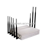 DZ101B-8 8 Antennas Mobile Signal Jammer blocker With 3G+ GPS + WIFI + UHF VHF Walkie Talkie