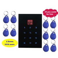 Black color RFID Door Controller, ID Card and Password Keypad Stand alone Access Control System