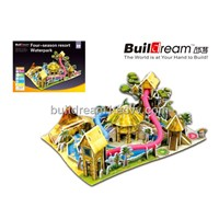 Buildream export new toy, interesting intelligent Jigsaw 3D puzzle BD-P005 Four-season  Water Park