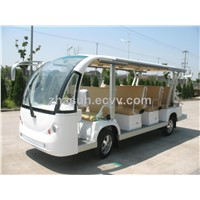 CE approved Electric shuttle bus  with 14 seaters
