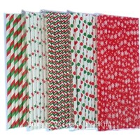 Christmas Themed Paper Straws