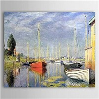 Famous Oil Painting A Yacht at Argenteuil by Claude Monet