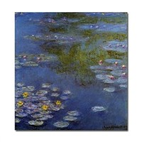 Hand-painted original oil paintings Water Lilies by Claude Monet with Stretched Frame