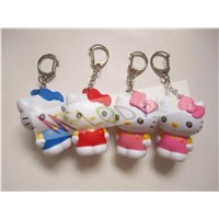 LED Hello Kitty Shaped Key Chain with Voice as gift