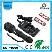 LED Rechargeable Tactical Aluminum Zoom Cree Lamp