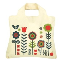 Large beautiful canvas shopping bags