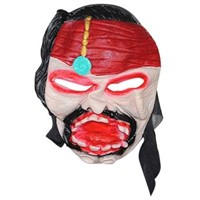 Little Red Rood Pirate Captain Halloween Silicone Mask