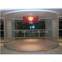 Metal Bead Chain Curtain In Curved Track System