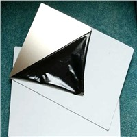 Metal plate for laminating with matte surface
