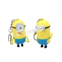 New Arrive LED Despicable ME Key Chain Toy with Voice Sounding Toy Electronic Toy for Children