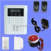 New product,Wireless LCD GSM+PSTN dual network touch keypad wireless burglar alarm system