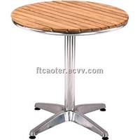 New style wood outdoor round table