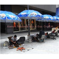Promotional Beach Umbrella with Custom Logo, Outdoor Advertising Umbrella