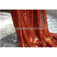 Red Color Metallic Fabric