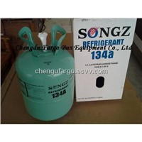 Refrigerant for bus air conditioning R134a