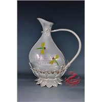 Silver Wine Set - Lotus Decanter