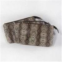 Snake leather bag leather cosmetic bag Snake fur bag Artificial snake leather bag