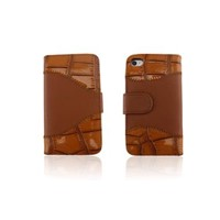 Wallet Case-Alligator Pattern Cover For Iphone 4S