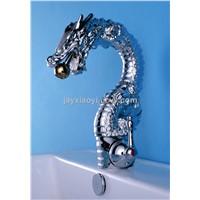 chrome clour single hole dragon mixer faucet