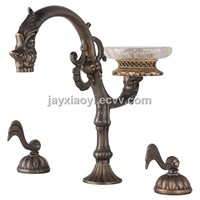 oil rubbed bronze WATERFALL BATHTUB FAUCET 3 pcs widespread tub faucet