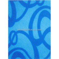 printing carpet 100%PE material made by machine/non-woven printing carpet