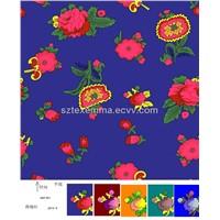spun rayon screen printed zr503 shirting