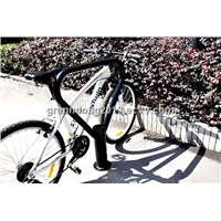 strong and durable surface floor indoor  spray two-bike  bicycle parking rack