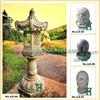 Outdoor Granite Garden Lamp