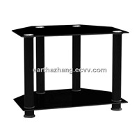 2 tiers glass black tv stad xyts-269