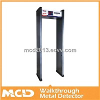 CE passed walk through  Metal Detector /6zones Door Frame Metal Detector Gate MCD-100