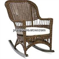 Rattan/Aluminum Outdoor rocker