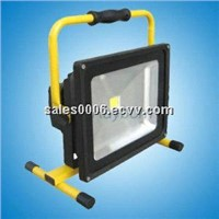 2014 newest design hot selling 10w/20w/30w/50w Rechargeable Portable LED flood light