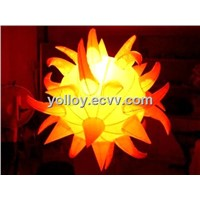 Portable Mobile Inflatable Sun Flower Decoration Lighting Changeable LED Lights