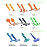 Single blade razor for jail and medical and hotel use