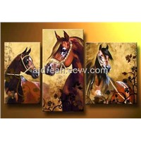 100% Handmade Animal Oil Paintings On Canvas