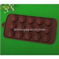 15 lattice rose shape silicone chocolate mold