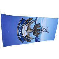 2013 Cotton Promotional Beach Towel Velour Cotton Reactive Printed Advertising Logo Beach Towel