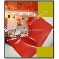 #2083 Red Glossy ceiling tiles PVC stretch ceiling film