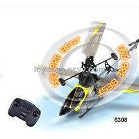 3.5ch Alloy rc helicopter with gyro & Shining LED letter  or words
