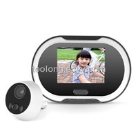 3.5inch LCD Monitor Digital Door Peephole Viewer View with Door Bell